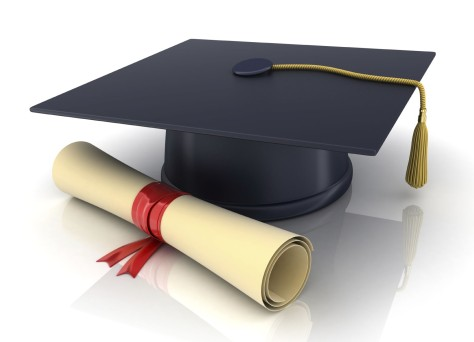 trencher-cap and diploma (done in 3d)